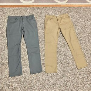 2 Pairs of Skinny Fit Signature Levi Strauss Pants